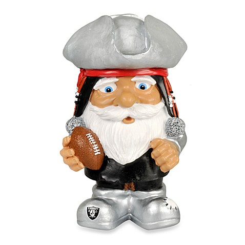Oakland Raiders Mad Hatter Garden Gnome