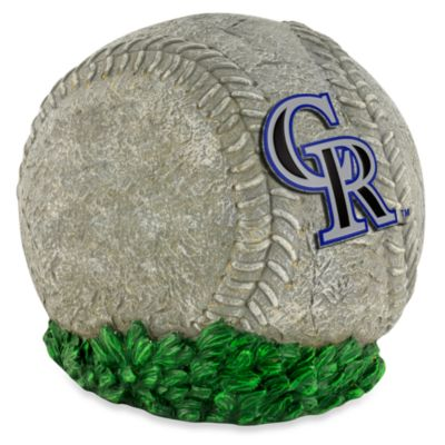 Colorado Rockies 3D Baseball Garden Stone