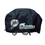 Miami Dolphins Deluxe Barbecue Grill Cover