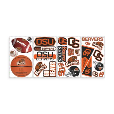 RoomMates Oregon State Peel and Stick Wall Decals