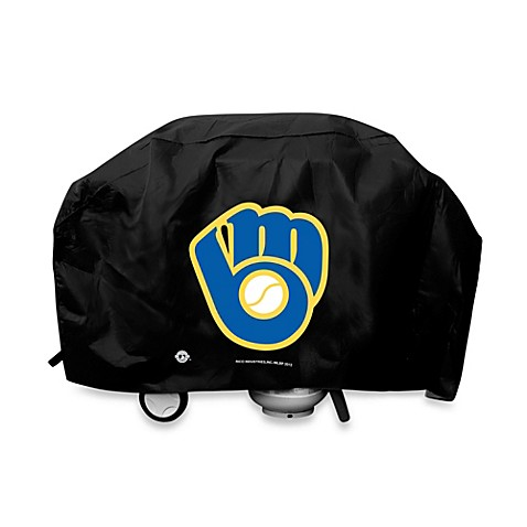 MLB Milwaukee Brewers Deluxe Barbecue Grill Cover