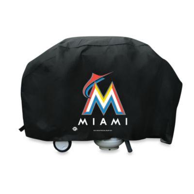 MLB Miami Marlins Deluxe Barbecue Grill Cover