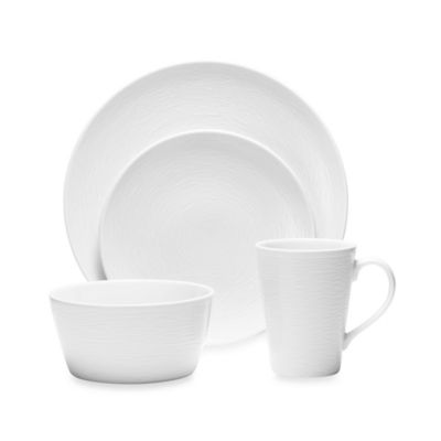 Noritake® White on White Swirl 4-Piece Round Place Setting