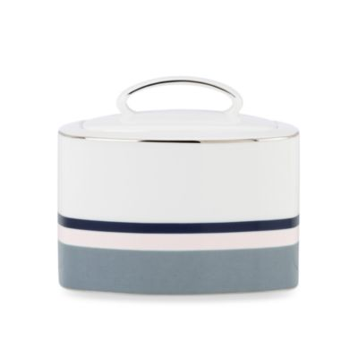 kate spade new york Mercer Drive 3.8-Inch Sugar Bowl with Lid