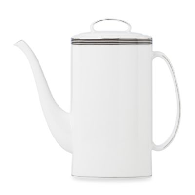 kate spade new york Parker Place™ Coffee Pot With Lid in White