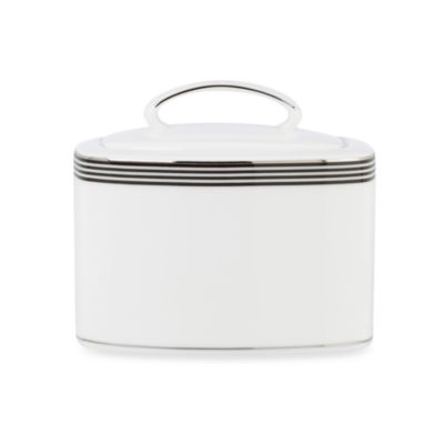 kate spade new york White Parker Place Sugar Bowl