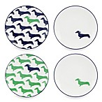 kate spade new york Wickford Sea Cliffs Stripe Tidbit Plates (Set of 4)
