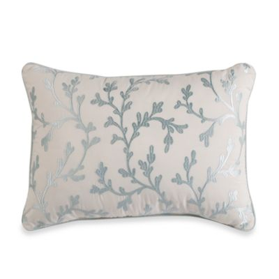 Royal Heritage Home® Oblong Embroidered Coral Throw Pillow in Sea Cottage