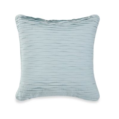 Royal Heritage Home® Square Wave Pleat Throw Pillow in Sea Cottage