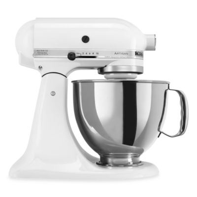 KitchenAid® 5-Quart Artisan™ Stand Mixer in White and Silver