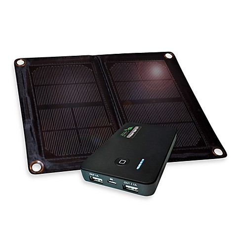 Nature Power 6-Watt Folding Solar Panel and Power Bank 5.0 Lithium Dual USB Charging Device