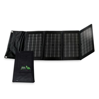 Nature Power 40-Watt Monocrystalline Solar Charger for Laptops and 12-Volt Batteries