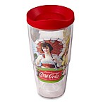 Tervis® Coca-Cola® Lady with Umbrella 24-Ounce Wrap Tumbler with Red Lid
