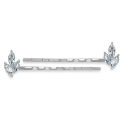 White Topaz Hair Pins (Set of 2)