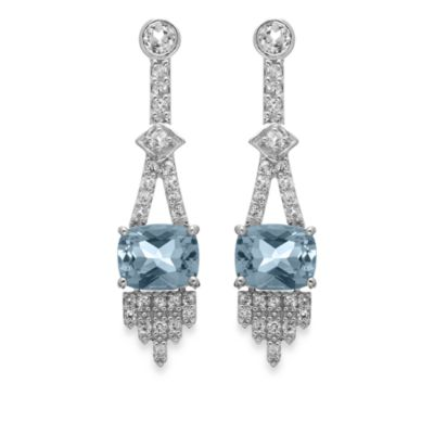 Eternities by Carol Brodie™ Blue and White Topaz Drop Earrings
