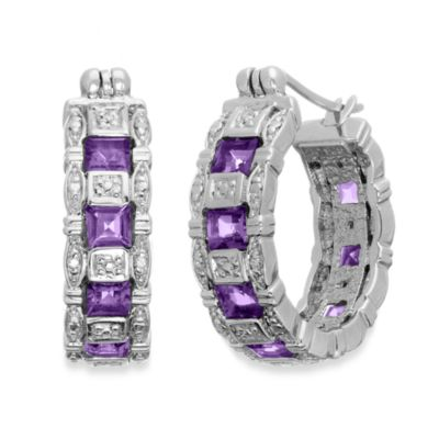 Eternities by Carol Brodie™ Amethyst Hoops