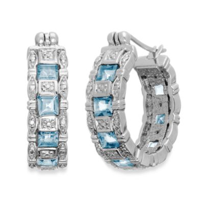 Eternities by Carol Brodie™ Blue Topaz Hoops