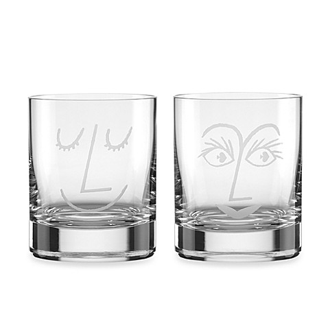 kate spade new york Two of a Kind Cocktail Glasses (Set of 2)