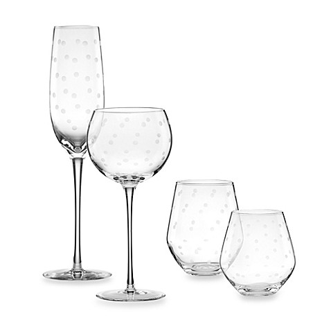 kate spade new york larabee dot barware set of 4 bed
