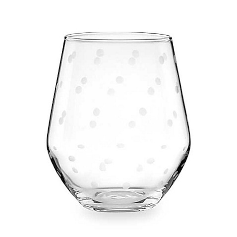 kate spade new york Larabee Dot Stemless Wine Glass (Set of 4)