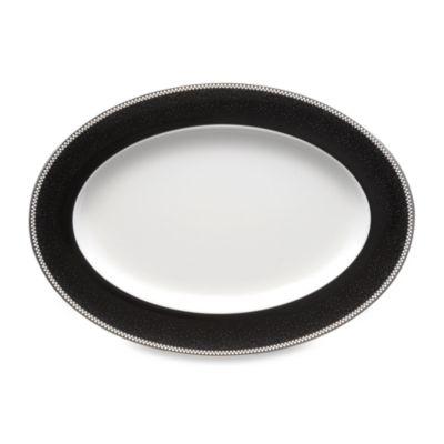 Noritake® Pearl Noir 14-Inch Oval Platter