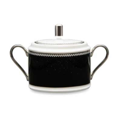 Noritake® Pearl Noir 11.5-Ounce Sugar Bowl with Cover