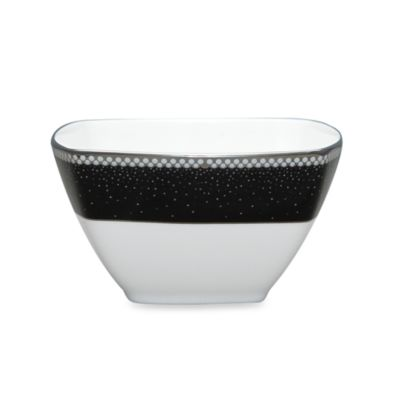 Black / White Square Bowl