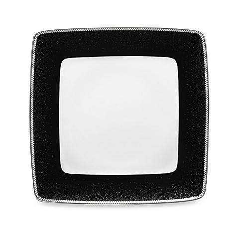 Noritake® Pearl Noir 10.25-Inch Large Square Dinner Plate