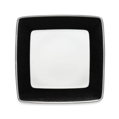 Blue White Square Dinner Plate