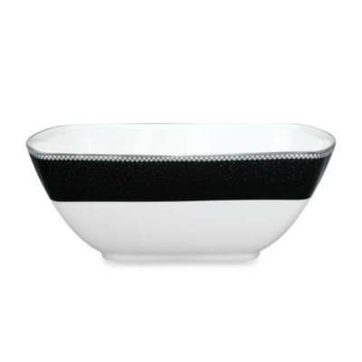 Noritake® Pearl Noir Large 53-Ounce Square Bowl