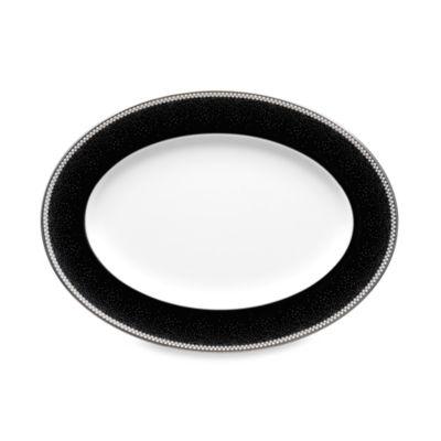 Noritake® Pearl Noir 12.25-Inch Oval Platter