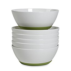 Tabletops Unlimited™ Neo Eco Green 6-Inch Cereal Bowls (Set of 6)