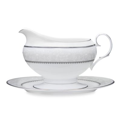 Noritake® Brocato 16-Ounce Gravy Boat with Tray