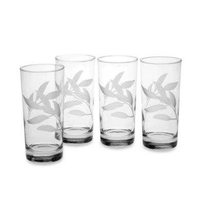 Reed & Barton® Bamboo Garden High Ball Glasses (Set of 4)