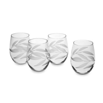 Reed & Barton® Bamboo Garden Tumbler Glasses (Set of 4)