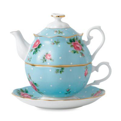 Blue Multi Tea Set