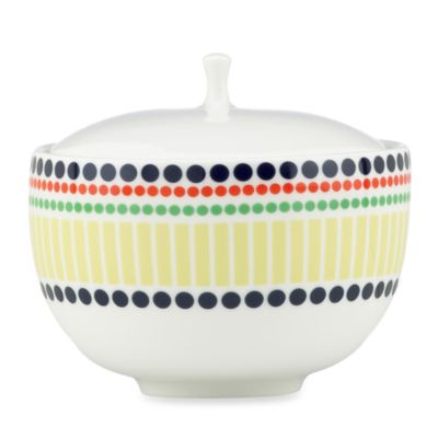 kate spade new york Hopscotch Porcelain 4.3-Inch Sugar Bowl