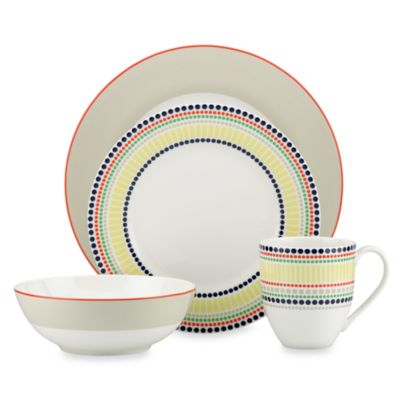 kate spade new york Hopscotch 4-Piece Porcelain Dinnerware Set