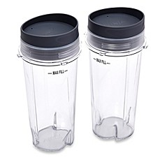 Ninja® 16-Ounce Single Serve Cups with Lids for Ninja® BL660 Professional Blender (Set of 2)