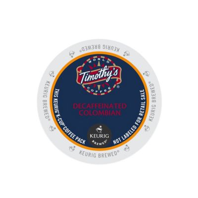 K-Cup® 18-Count Timothy's Colombian Decaf Coffee for Keurig® Brewers