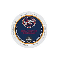 Keurig® K-Cup® Pack 18-Count Timothy's® Colombian Decaf Coffee