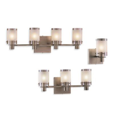 George Kovacs® Etched Glass Wall Sconce in Clear/Sand