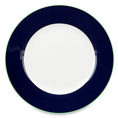 kate spade new york Hopscotch Drive Dinner Plate in Navy