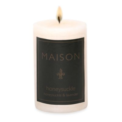 Maison Honeysuckle 2-Inch x 3-Inch Pillar Candle