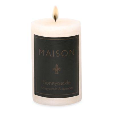 Maison Honeysuckle 2-Inch x 3-Inch Pillar Candle