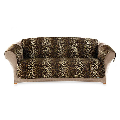 Sure Fit® Velvet Leopard Quilted Pet Throw