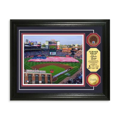 Atlanta Braves MLB Stadium Dirt Coin Photo Frame