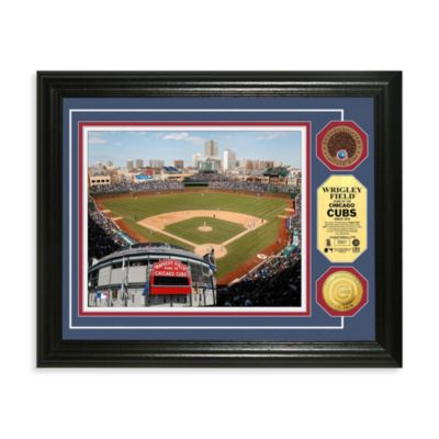 Chicago Cubs MLB Stadium Dirt Coin Photo Frame