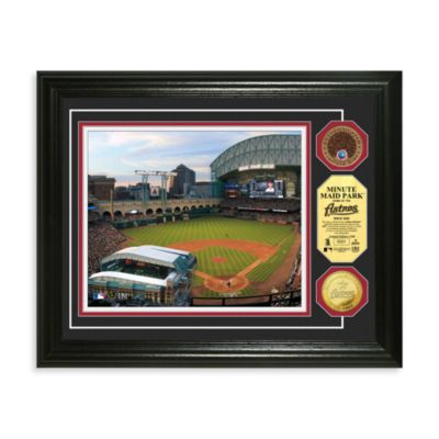 Houston Astros MLB Stadium Dirt Coin Photo Frame