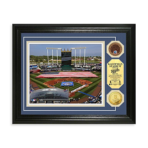 Kansas City Royals MLB Stadium Dirt Coin Photo Frame